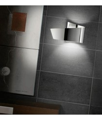 Chrome aluminium wall light - Ado - Pujol Iluminación