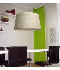 Ceiling lamp with imitation pony hair shade Ø 50 cm – Africa – IDP Lampshades