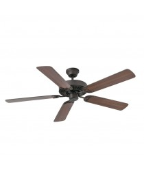 Ceiling fan without light finished in walnut wood with 3 speeds - Aloha – Faro