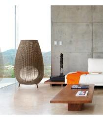 Lámpara de pie de exterior con pantalla tejida a mano en 2 colores y 3 tamaños – Amphora – Bover