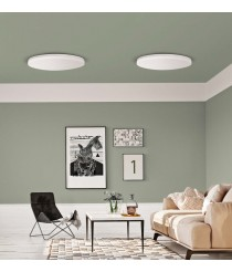 LED white metal and acrylic ceiling lamp – Angus – ACB Iluminación