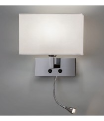 Wall lamp with white shade + adjustable reading light - Benet - ACB Iluminación