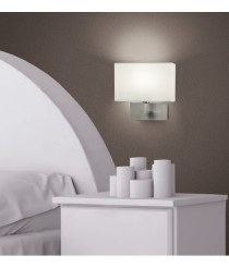 Metal wall lamp with cotton shade - Carlo - ACB Iluminación