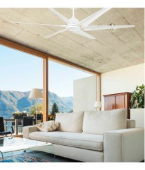 White finish ceiling fan available with or without LED light - Cies – Faro