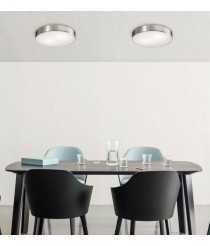 Metal and glass ceiling light in 2 sizes and 2 finishes - Dins - ACB Iluminación