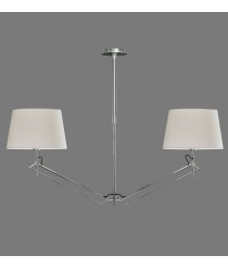 Metal hanging pendant lamp with 2 cotton shades – Elba – ACB Iluminación