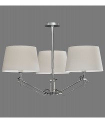 Metal hanging ceiling lamp with 3 cotton shades – Elba – ACB Iluminación