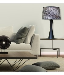Table lamp with a shade made in 100% cellulose material – Étnico – IDP Lampshades