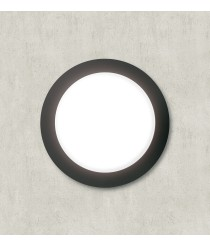 IP54 black aluminum outdoor wall light Ø 27,5 cm - Piro Dopo - Novolux