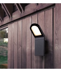 IP54 LED anthracite outdoor wall light - Castello - Dopo - Novolux