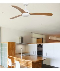 Ceiling fan 3 wooden blades available with or without light - Grid – Lighthouse