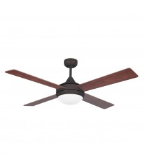 Ceiling fan with light and reversible blades available in 3 finishes - Icaria – Faro