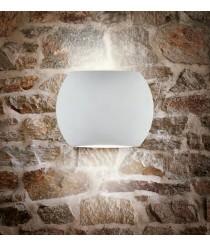 Textured white outdoor wall lamp 3200K IP54 - Kira  - ACB Iluminación