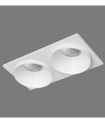 White aluminum recessed ceiling spotlight with 2 lights – Kuba – ACB Iluminación