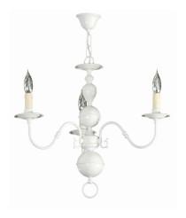 Lámpara de techo hecha de metal y con el acabado blanco con 3, 5 u 8 brazos – Desa – Artesanía Joalpa