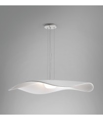Pendant lamp with 1 or 2 shades made of white or cream translucent tape - Mediterrània – Bover