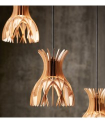 Pendant lamp with multiple fleuron and 4, 7, 13 or 19 lights available with 2 finishes - Domita – Bover