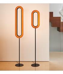 Lámpara de pie LED con pantalla de madera natural en varios acabados – Lens Oval – Lzf