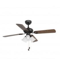 Ceiling fan with brown light chain drive - Lisbon - Faro