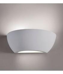 Matt white plaster wall lamp - Lotto - ACB Iluminación