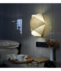 Aplique de pared de madera natural blanca - Orbit - Lzf