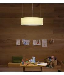 Lámpara de suspensión de madera natural blanca Ø 42 cm - Gea - Lzf