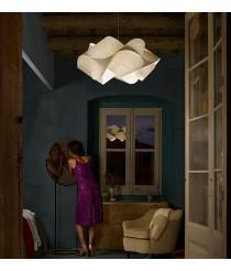 Lámpara colgante de madera natural en blanco 75 cm - Swirl - Lzf - Disponibilidad inmediata