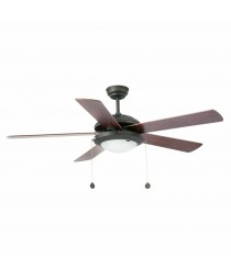 Ceiling fan with light and 5 reversible blades available in 2 finishes - Manila – Faro