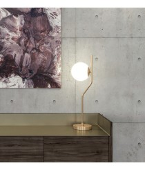 Old gold-finished metal table lamp – Maui – ACB Iluminación
