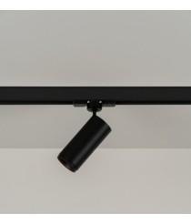 Foco de techo de carril LED Ø 5 cm y 17,2 cm de alto en 2 acabados y 2 fuentes de luz orientable y regulable 2700K – Haul – Milan