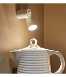 Aplique de pared LED Ø 4 cm y 9,1 cm de alto de acero en 2 acabados regulable y orientable 2700K – Haul – Milan