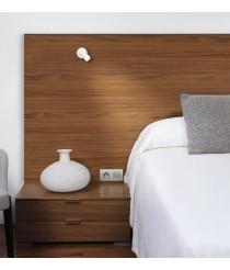 Aplique de pared LED Ø 4 cm y 9,7 cm de alto de acero con base circular en 2 acabados orientable y regulable – Haul – Milan