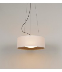 Steel pendant lamp in 2 finishes and adjustable height  – Lid – Milan