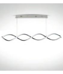 LED chrome pendant light 3000K – Nayla – IDP Lampshades
