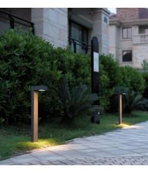 IP54 anthracite aluminum outdoor beacon 75 cm - Guiu - Dopo - Novolux