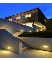 IP54 LED aluminum outdoor recessed light 3000K - Barlia - Dopo - Novolux
