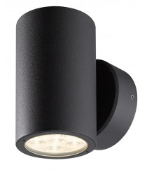 IP54 LED anthracite aluminum outdoor wall light 3000K - Bindo Round - Dopo - Novolux