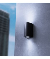 IP55 resin outdoor wall light in 3 finishes - Estel - Dopo - Novolux