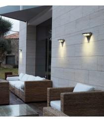 IP54 LED anthracite aluminum outdoor wall light 4100K - Madrid - Dopo - Novolux