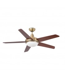 Ceiling fan with light available in 3 different finishes - Ovni – Faro