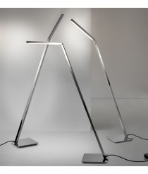 LED dimmable floor lamp in two finishes ideal for reading - Clau - Pujol Iluminación