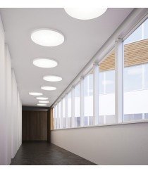 LED ceiling light in aluminum and available in 2 finishes and 3 dimensions - Plafo - Pujol Iluminación