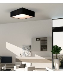 Square-shaped ceiling lamp in 3 sizes and 3 colours – Plafones – IDP Lampshades