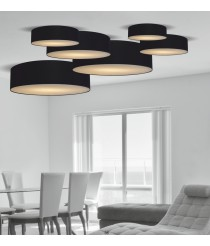 Circular-shaped ceiling lamp 100% laminated polyester in 6 sizes – Plafones – IDP Lampshades