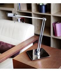 Lámpara de mesa LED en acero cromo 3000K - Del - Pujol Iluminación