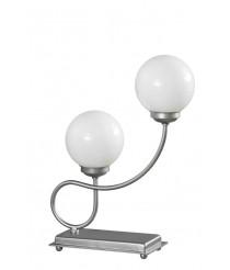 Lámpara sobremesa con dos luces acabado Plata – Zorita – Artesanía Joalpa
