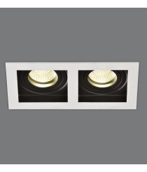 Recessed ceiling spotlight with two points of light – San – ACB Iluminación