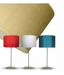 Silk table lamp in 3 colours 40 cm – Seda – IDP Lampshades