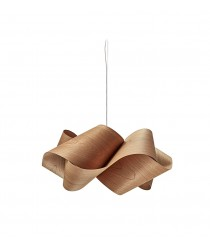 Lámpara colgante de madera en cerezo natural 75 cm - Swirl - Lzf - Disponibilidad inmediata