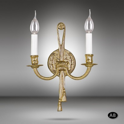 Brass wall light with 2 lights and 2 colours - Riperlamp